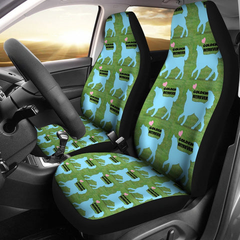 Golden Retriever Pattern Print Car Seat Covers- Free Shipping