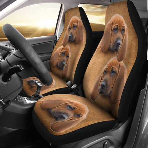 Lovely Redbone Coonhound Print Car Seat Covers-Free Shipping