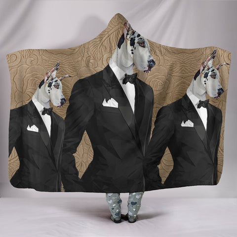 Amazing Great Dane Dog Print Hooded Blanket-Free Shipping
