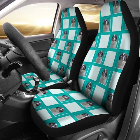 Saint Bernard Dog Print Car Seat Covers- Free Shipping