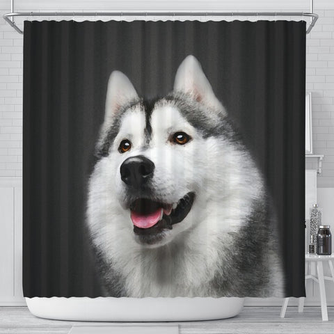 Siberian Husky Print Shower Curtains-Free Shipping