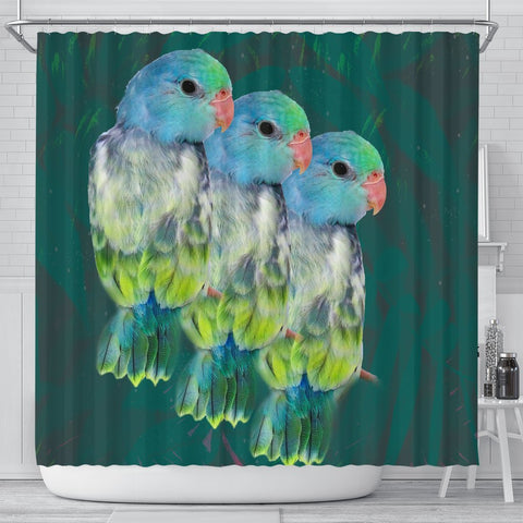 Parrotlets Parrot Print Shower Curtains-Free Shipping