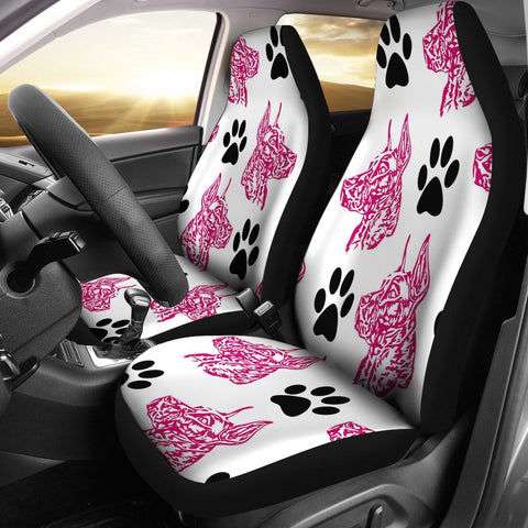 Great Dane Paw Patterns Print Car Seat Covers-Free Shipping