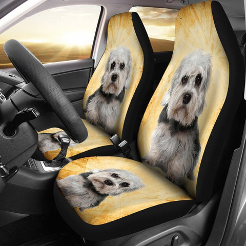 Dandie Dinmont Terrier Dog Print Car Seat Covers- Free Shipping