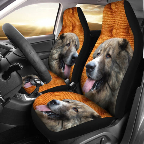 Caucasian Shepherd Dog Print Car Seat Covers-Free Shipping