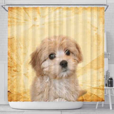 Lovely Cavapoo Print Shower Curtains-Free Shipping