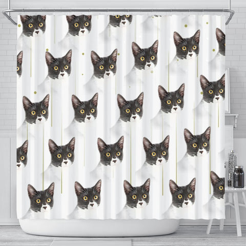 Cute Cats Print Shower Curtain-Free Shipping
