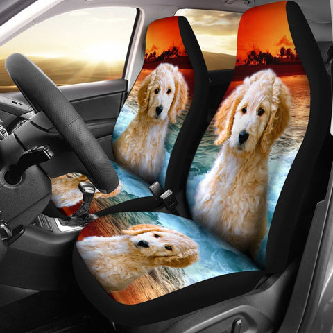 Cute Goldendoodle Dog Print Car Seat Covers- Free Shipping