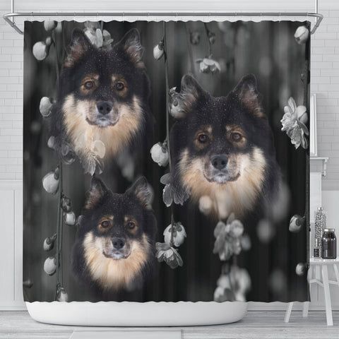 Finnish Lapphund Print Shower Curtains-Free Shipping