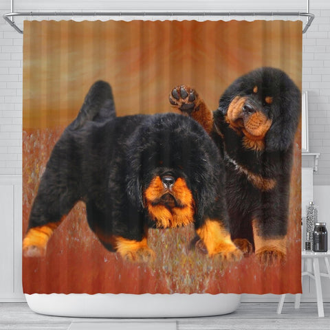 Tibetan Mastiff Print Shower Curtain-Free Shipping