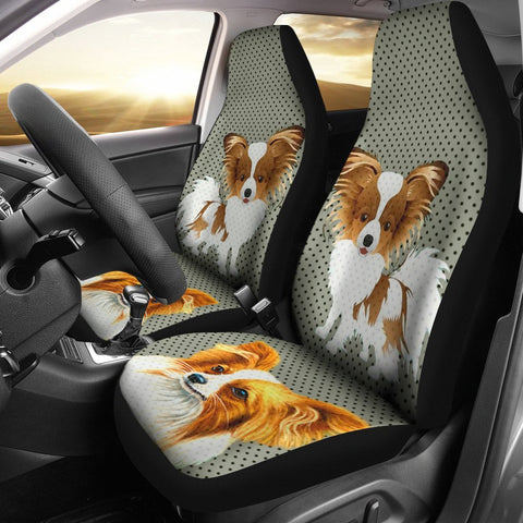 Cute Papillon Dog Print Car Seat Covers-Free Shipping
