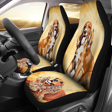 Cute Cocker Spaniel Dog Print Car Seat Covers- Free Shipping