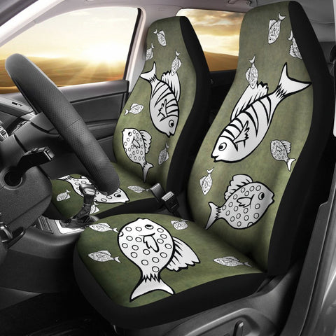 Happy Fish Print Car Seat Covers-Free Shipping