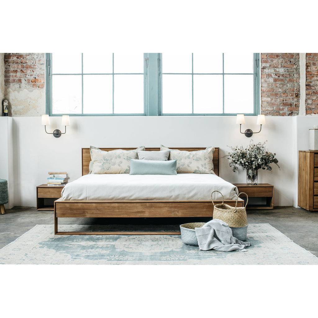 Nordic II bed - with slats