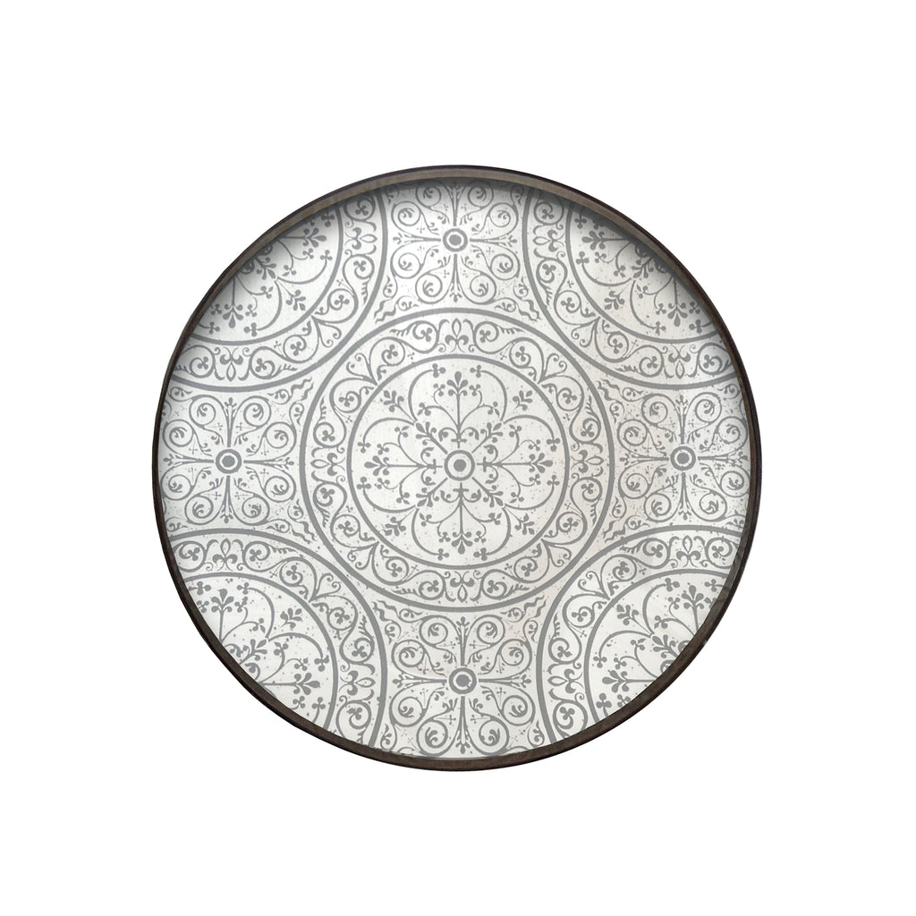 Moroccan Frost mirror tray 24 x 24 x 2