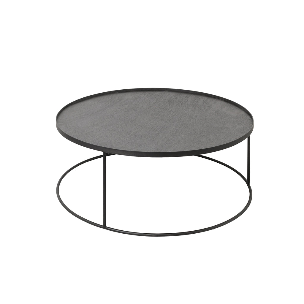 Round tray coffee table 37x 37 x 15  (tray not included)