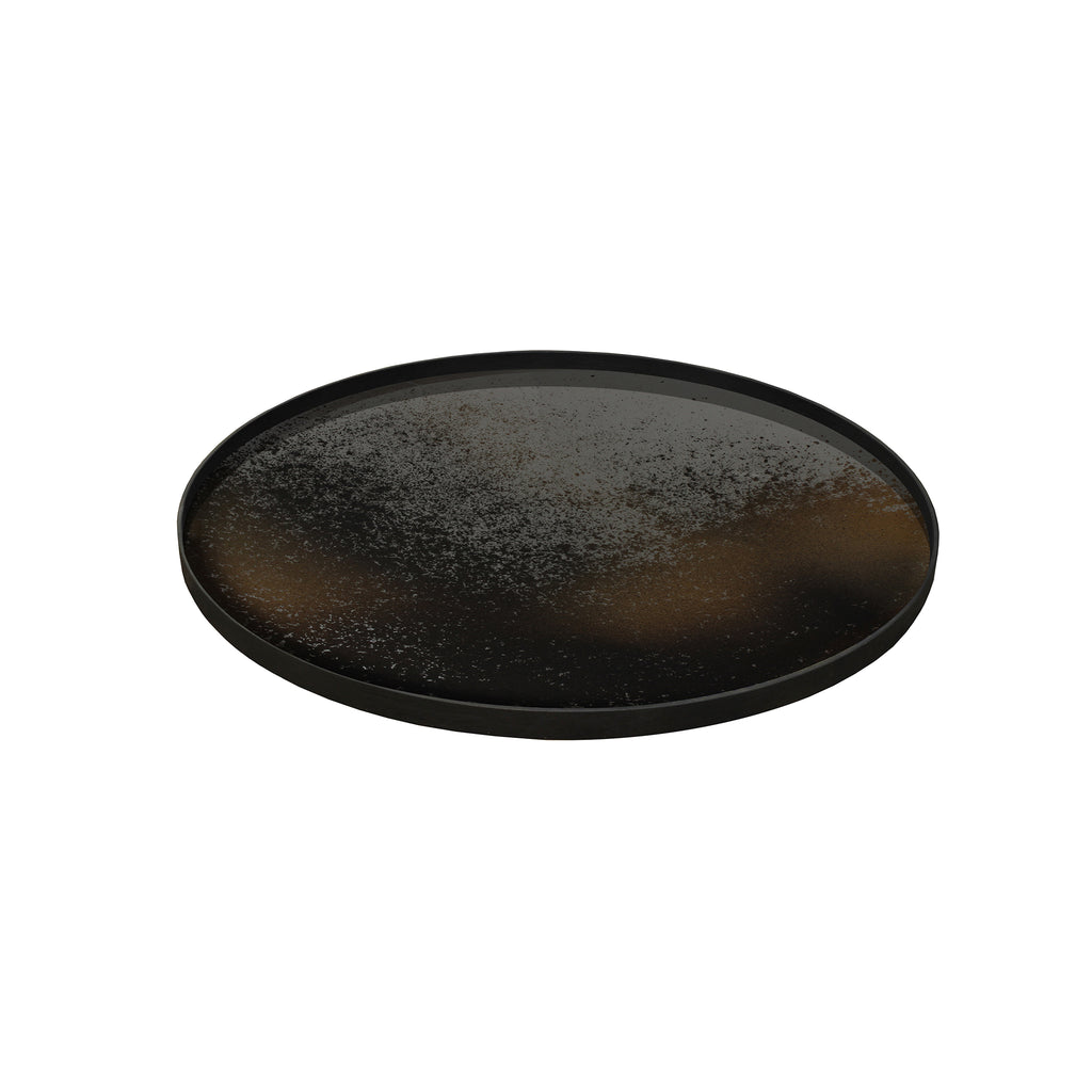 Bronze mirror tray 36 x 36 x 2