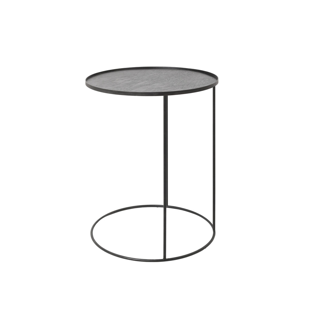 Round tray side table 24 x 24 x 26  (tray not included)