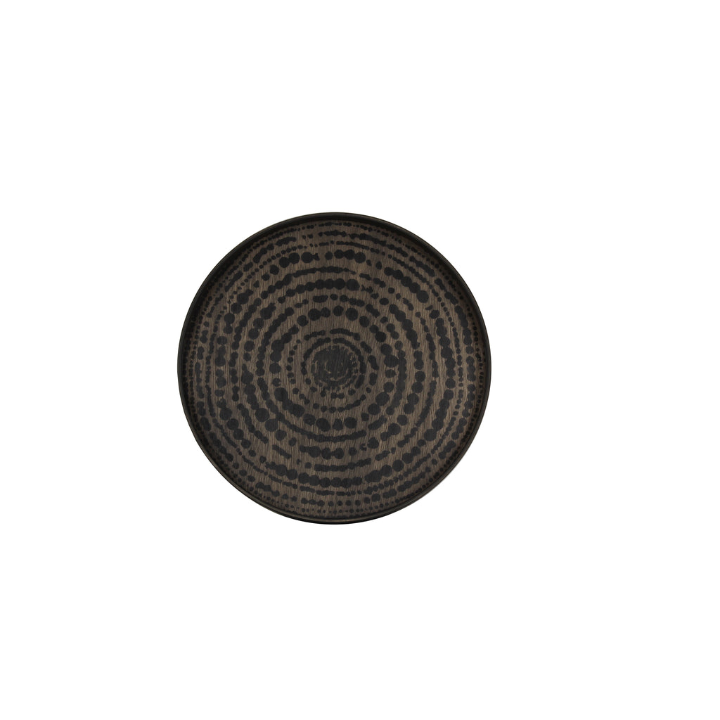 Black Beads wooden tray- 19 x 19 x 2