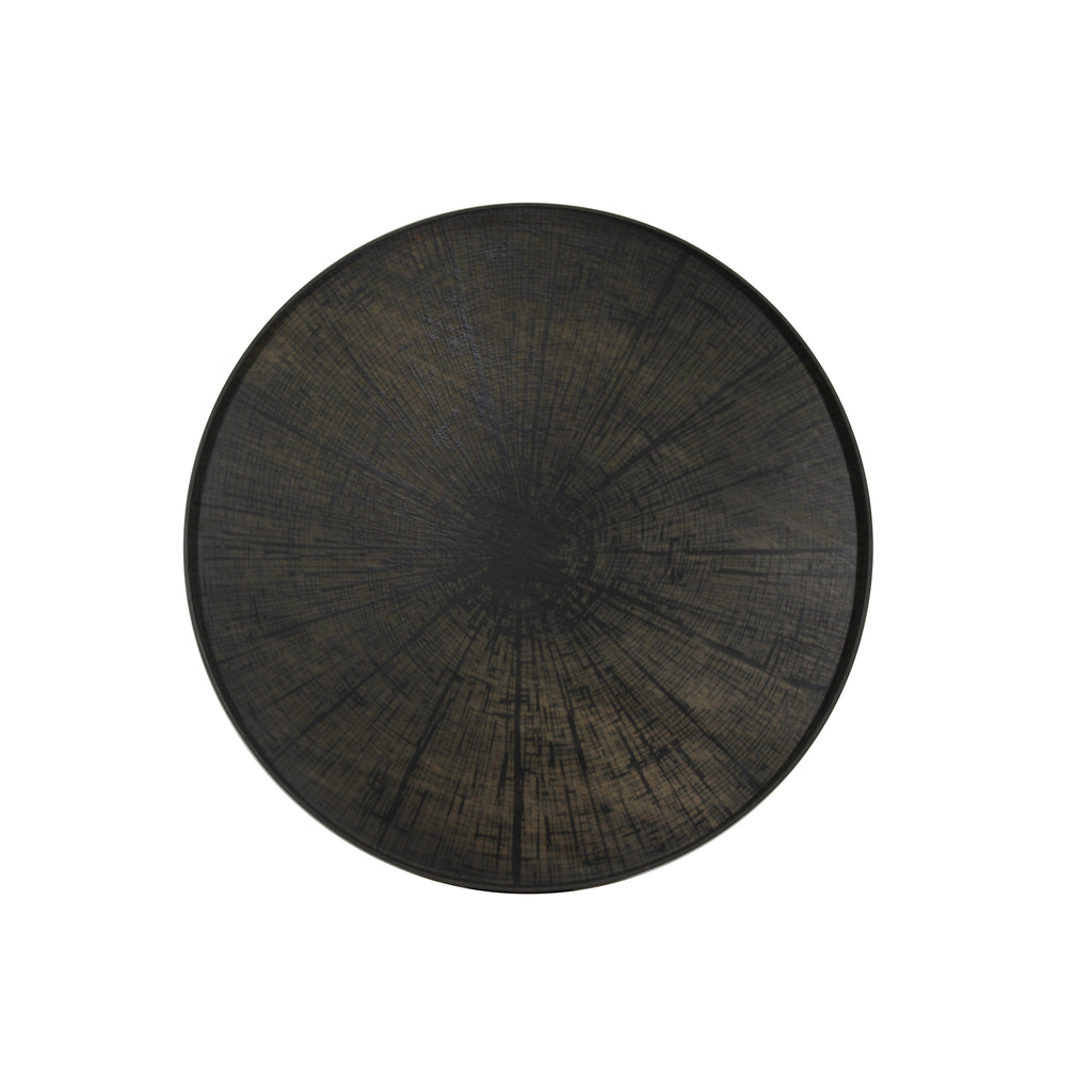 Black Slice wooden tray 36 x 36 x 2