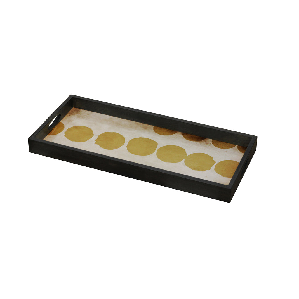 Sienna Dots glass tray 27 x 12 x 2