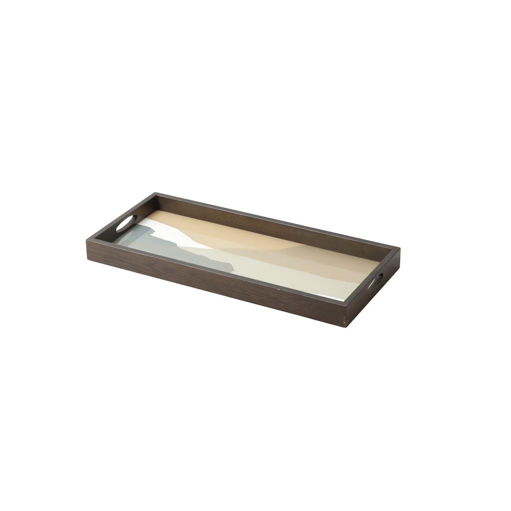 Slate Wabi Sabi glass tray 27 x 12 x 2