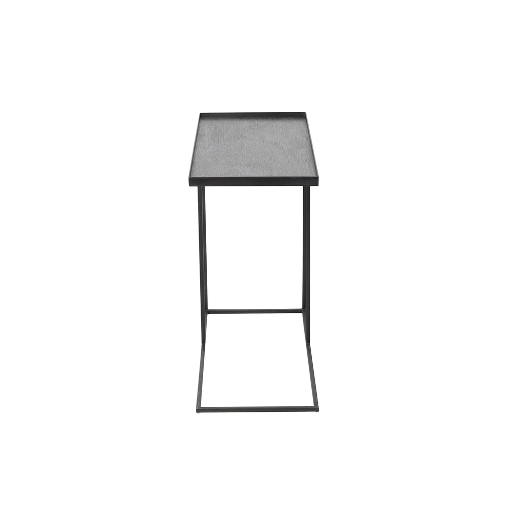Rectangular tray side table 28 x 13 x 25  (tray not included)