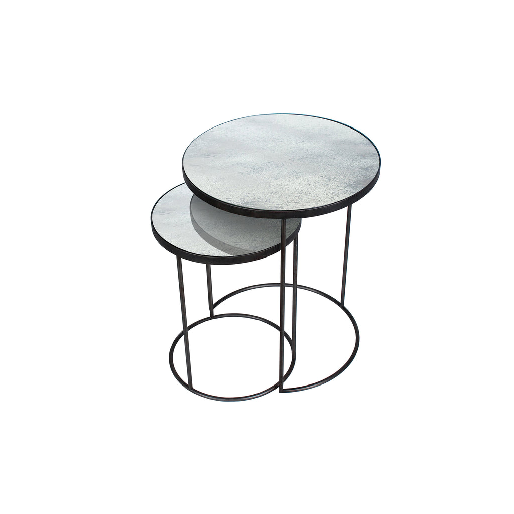 Clear Nesting side table set