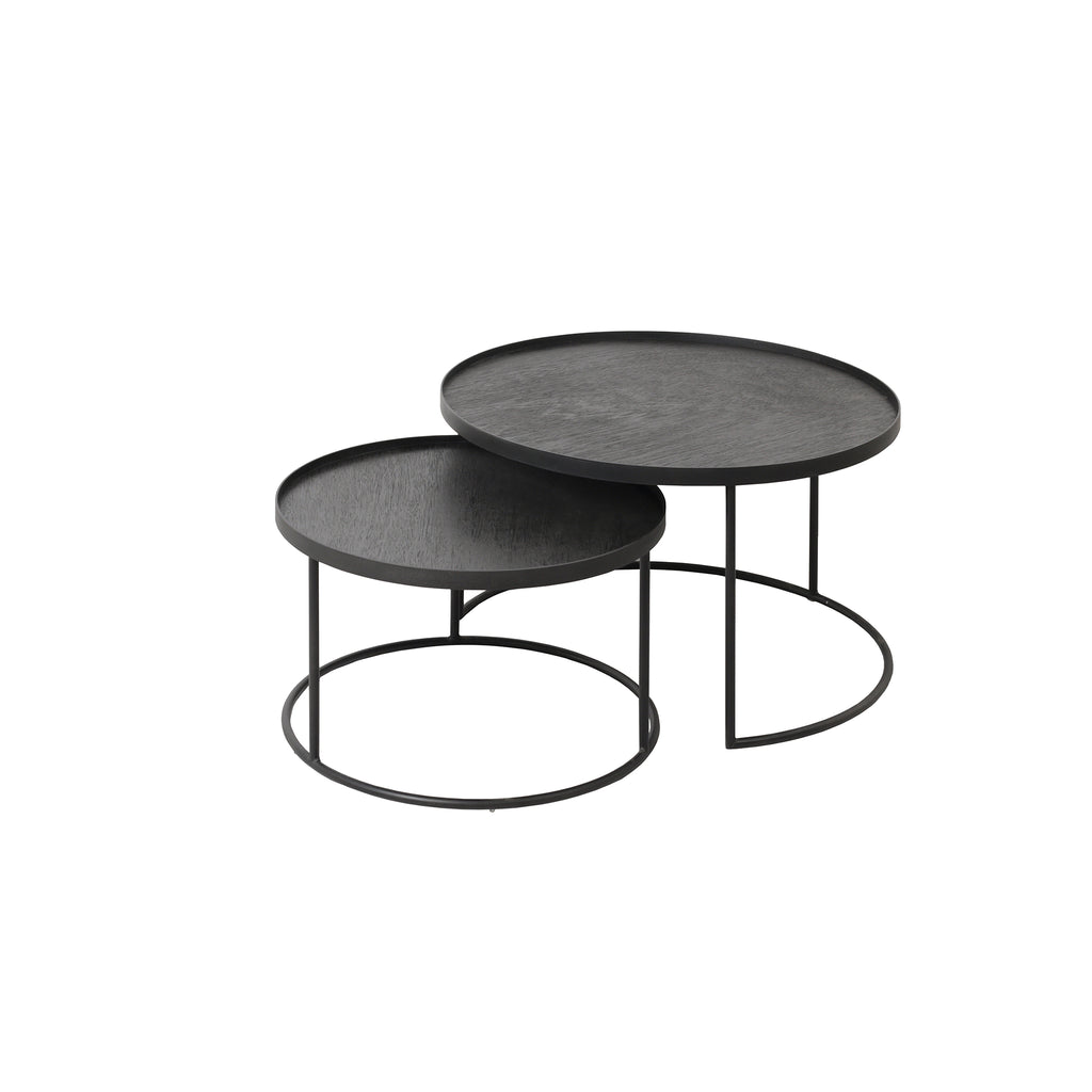 Round tray coffee table set  (tray not included)