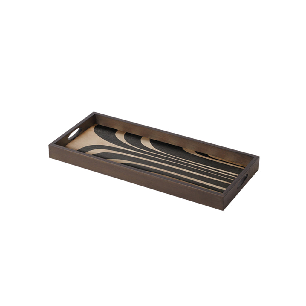 Graphite Curves wooden tray 27 x 12 x 2