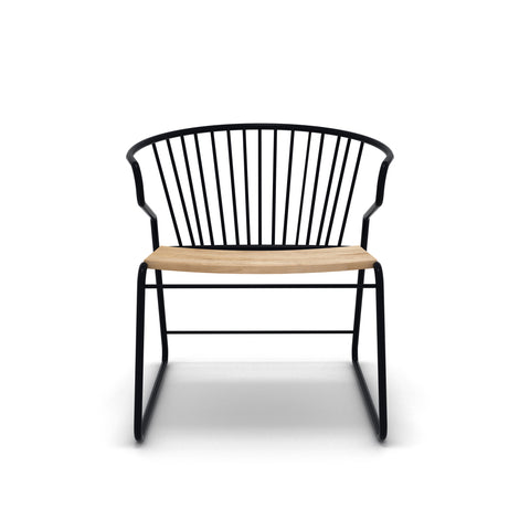 Oak Gabbia chair 24 x 27 x 30