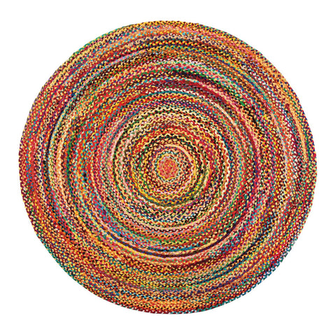 Round Agate Rug