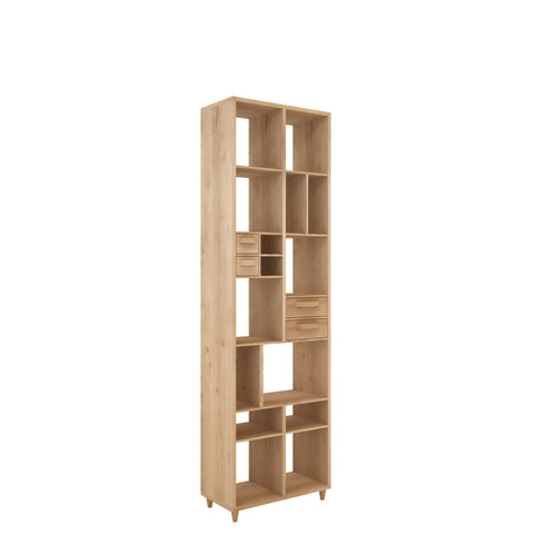 Oak Pirouette book rack 24 x 12 x 79