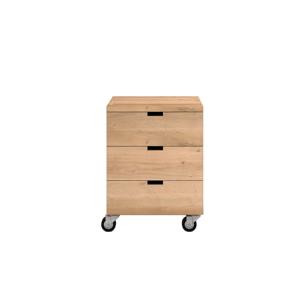 Oak Billy box - 3 drawers 20 x 22 x 26