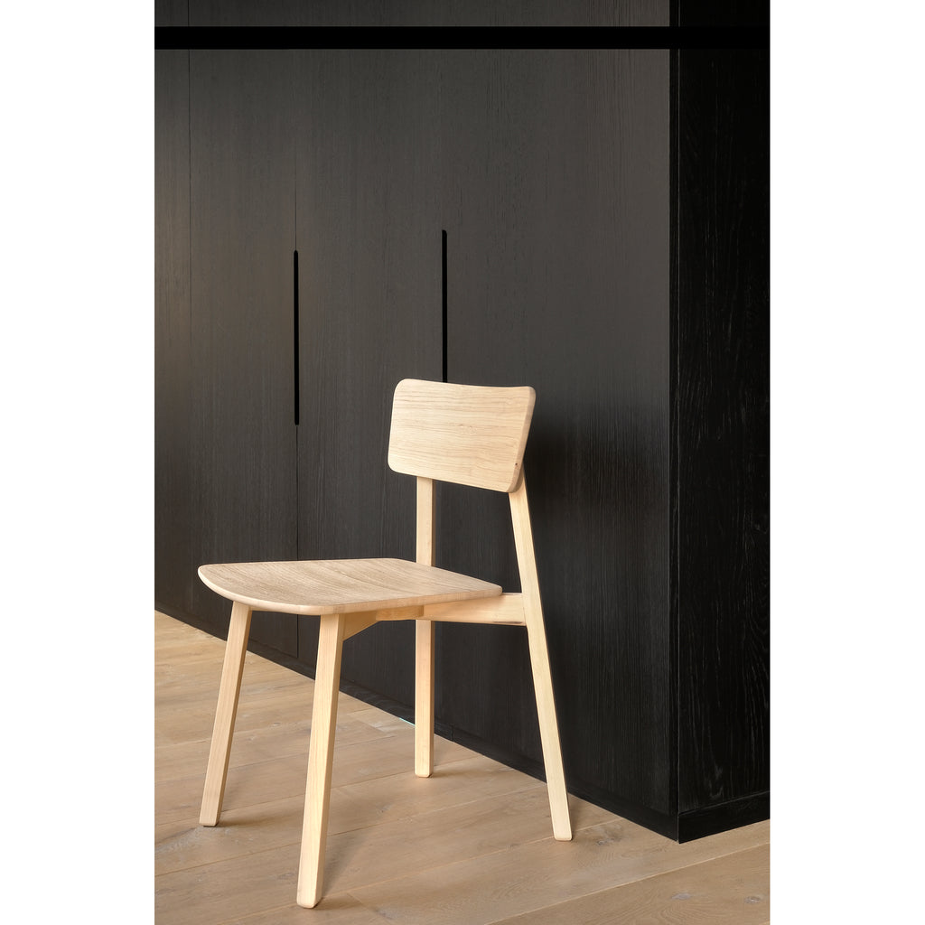 Oak Casale dining chair 18 x 20 x 31