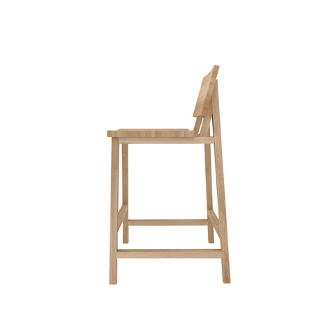 Oak N3 kitchen counter stool 19 x 20 x 36