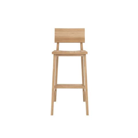 Oak N4 bar stool 19 x 20 x 43
