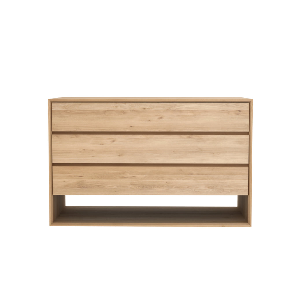 Oak Nordic chest of drawers - 3 drawers 51 x 22 x 33