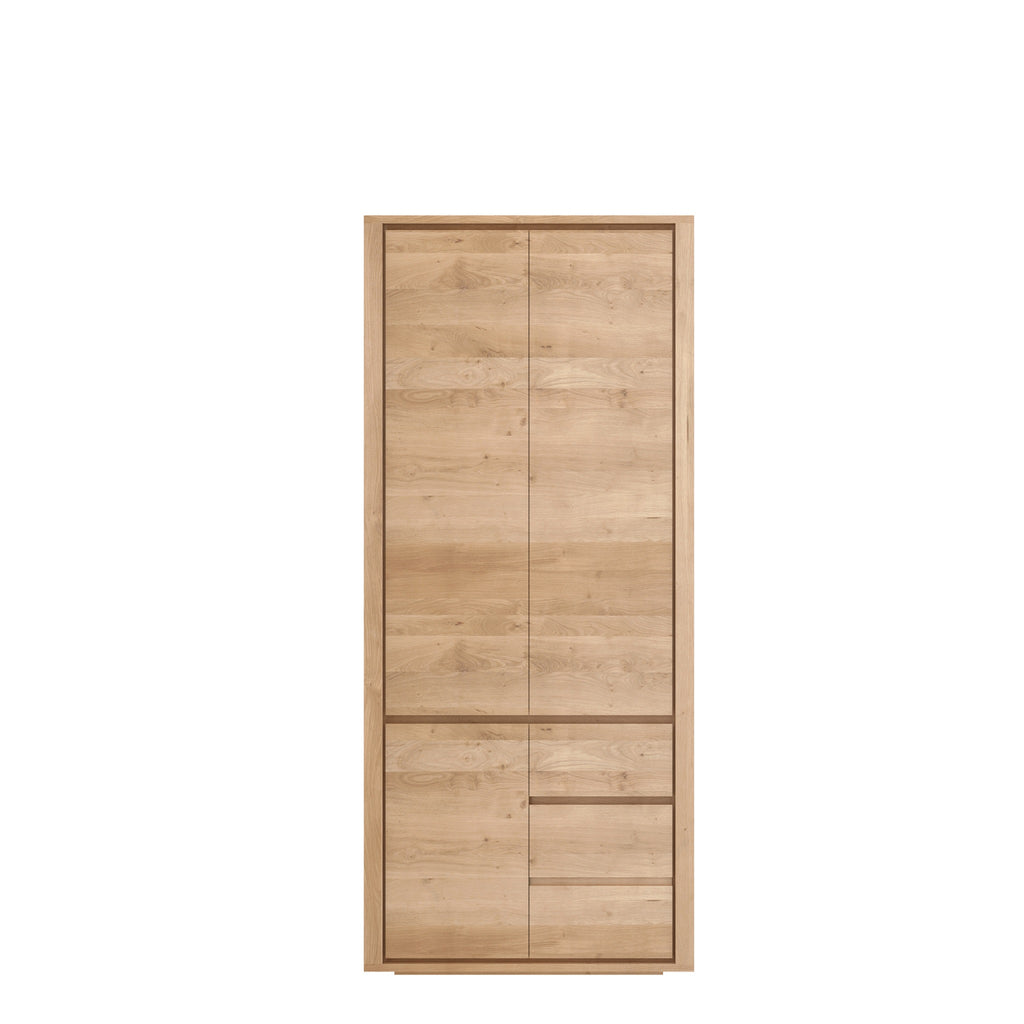Oak Shadow dresser - 3 doors - 2 drawers 45 x 24 x 79