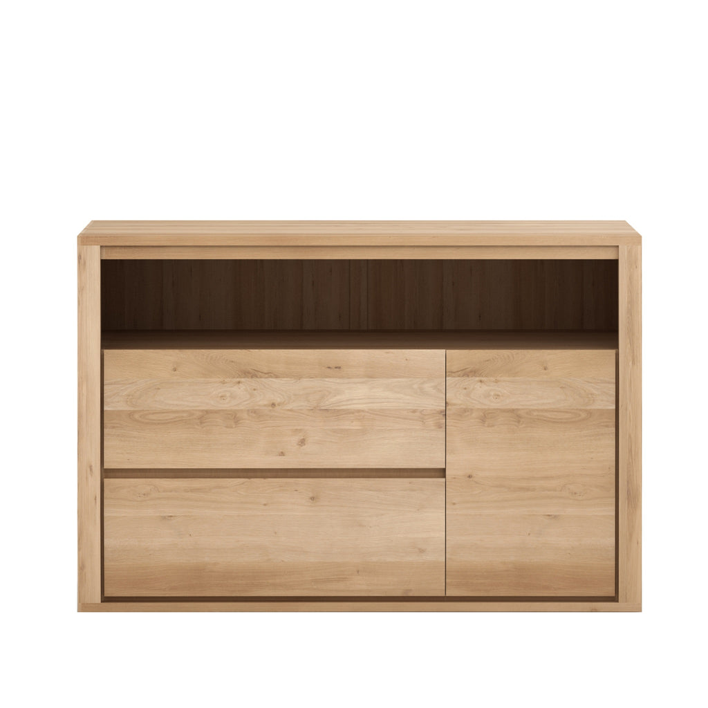 Oak Shadow chest of drawers - 1 door - 2 drawers 63 x 20 x 33