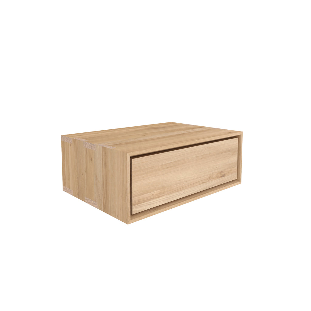 Oak Nordic II bedside table - 1 drawer - hanging 22 x 16 x 8