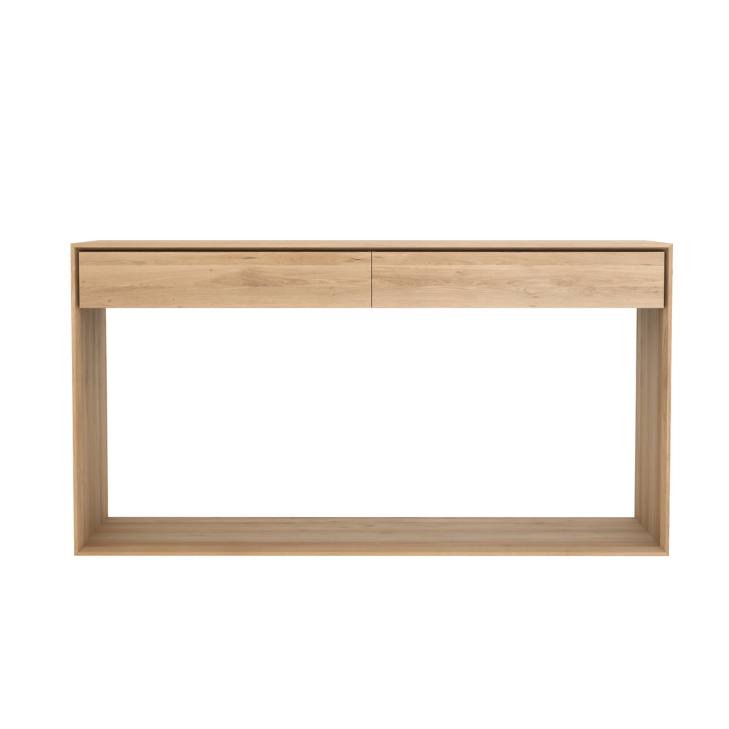 Oak Nordic console - 2 drawers