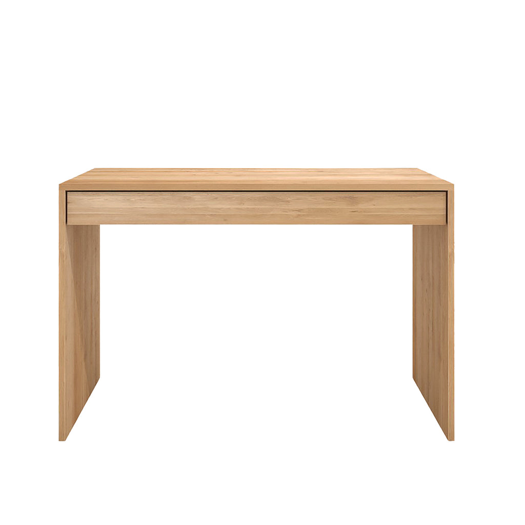 Oak Wave desk - 1 drawer 47 x 24 x 31