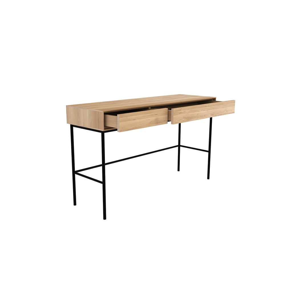 Oak Whitebird desk - 2 drawers 50 x 16 x 30