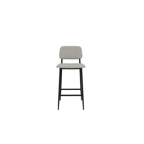 DC stool with backrest-light grey