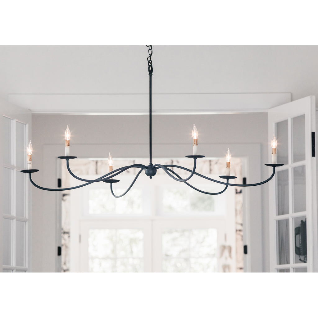 Saxon Black Chandelier