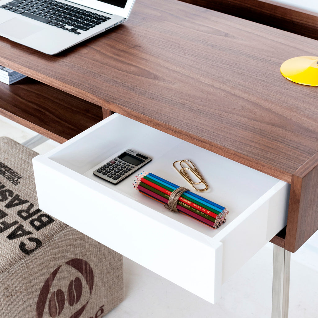 Junction Desk Walnut White