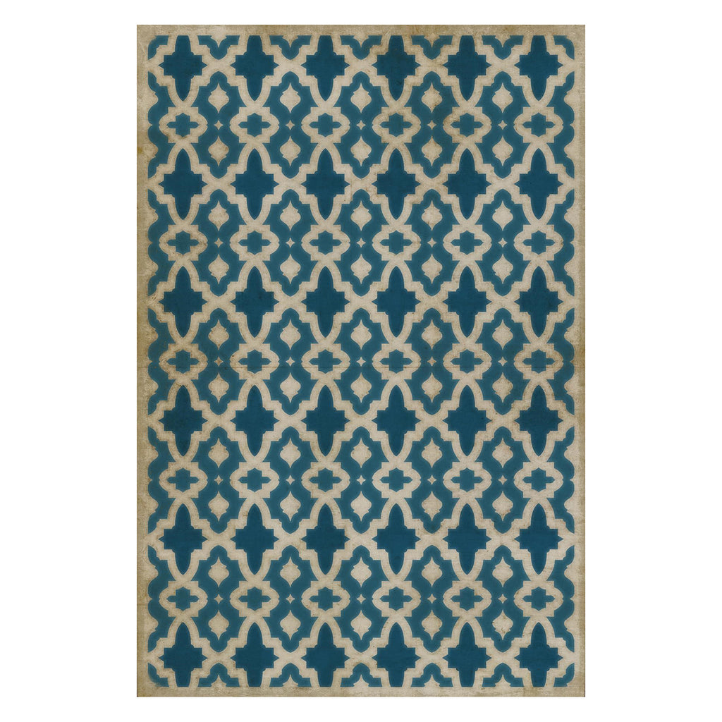 Blue Mosque Vintage Vinyl Floorcloth