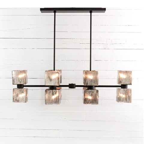 Ava Linear Chandelier- Antiqued Iron
