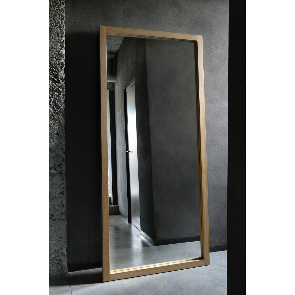 Oak Light Frame mirror